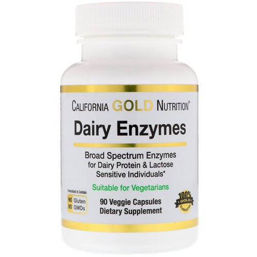 California Gold Nutrition, Dairy Enzymes, 90 Veggie Capsules Review