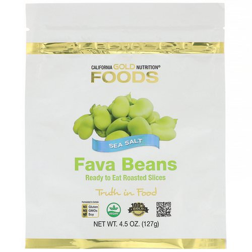 California Gold Nutrition, Foods, Fava Beans, Ready to Eat Roasted Slices, Sea Salt, 4.5 oz (127 g) Review