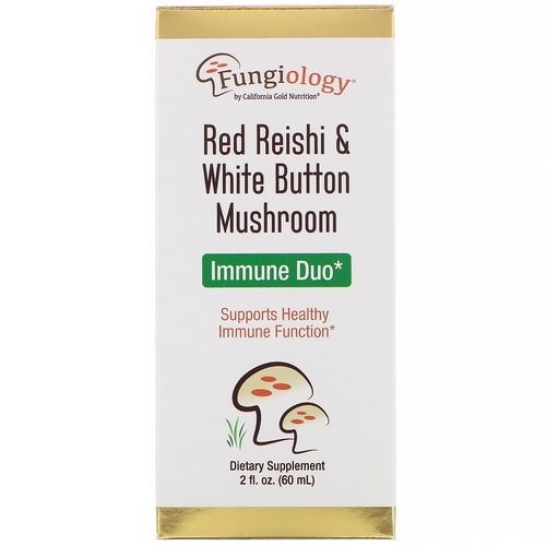 California Gold Nutrition, Fungiology, Red Reishi & White Button Mushroom, Immune Duo, 2 fl oz (60 ml) Review