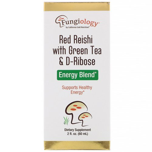 California Gold Nutrition, Fungiology, Red Reishi with Green Tea & Ribose, Energy Blend, 2 fl oz (60 ml) Review
