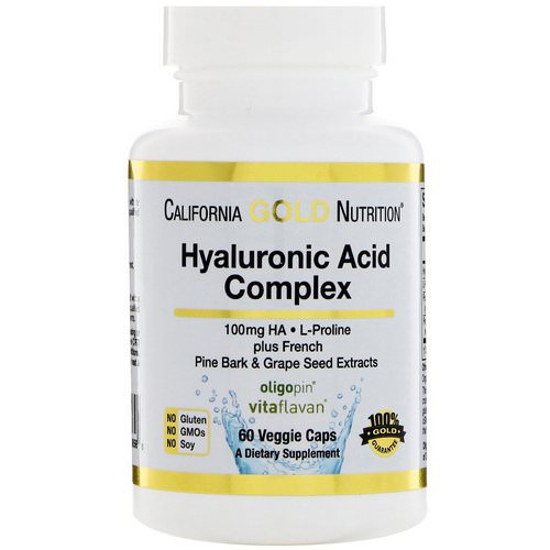 California Gold Nutrition, Hyaluronic Acid Complex, 60 Veggie Capsules Review
