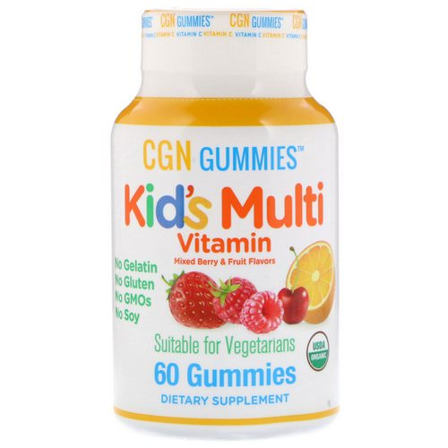 California Gold Nutrition, Kid's Multi Vitamin Gummies, No Gelatin, No Gluten, Organic Mixed Berry and Fruit Flavor, 60 Gummies Review
