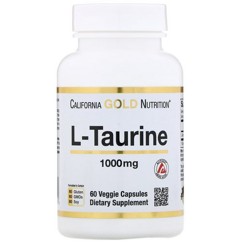 California Gold Nutrition, L-Taurine, 1000 mg, 60 Veggie Capsules Review