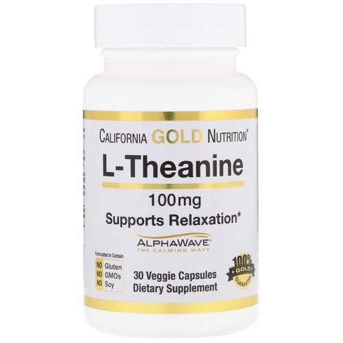 California Gold Nutrition, L-Theanine, AlphaWave, Supports Relaxation, Calm Focus, 100 mg, 30 Veggie Capsules Review