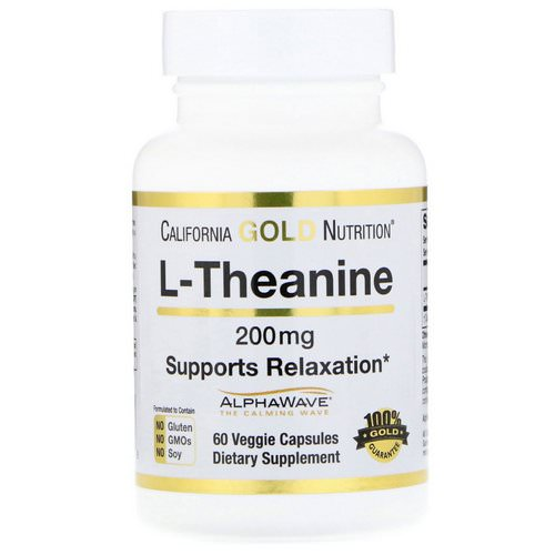 California Gold Nutrition, L-Theanine, AlphaWave, Supports Relaxation, Calm Focus, 200 mg, 60 Veggie Capsules Review