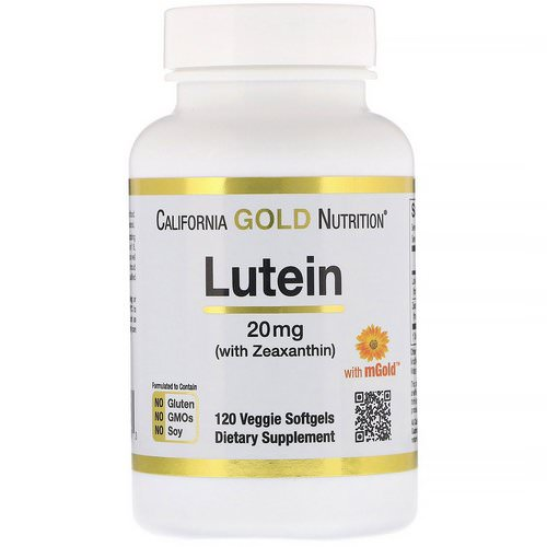 California Gold Nutrition, Lutein with Zeaxanthin, 20 mg, 120 Veggie Softgels Review