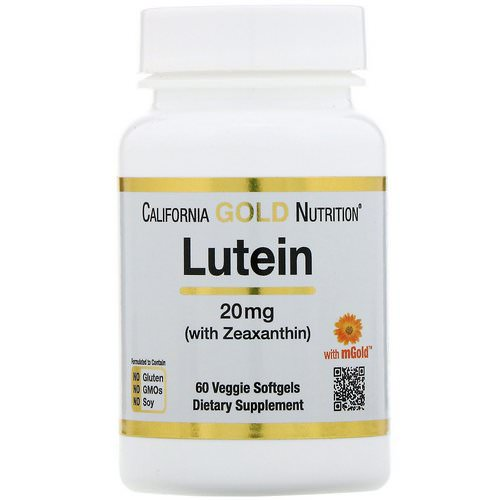 California Gold Nutrition, Lutein with Zeaxanthin, 20 mg, 60 Veggie Softgels Review