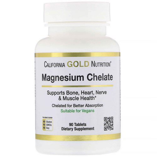 California Gold Nutrition, Magnesium Chelate, 210 mg, 90 Tablets Review