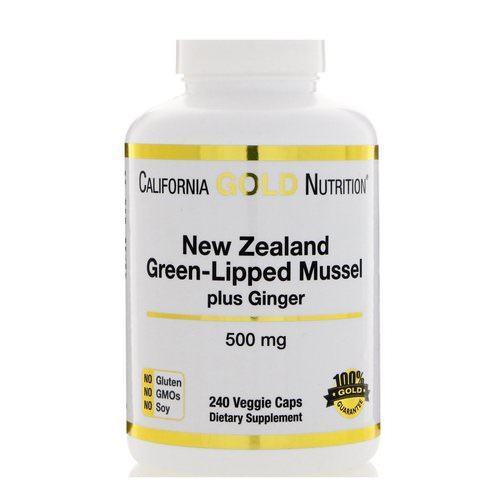 California Gold Nutrition, New Zealand, Green-Lipped Mussel Plus Ginger, Joint Health Formula, 500 mg, 240 Veggie Caps Review