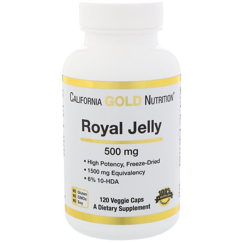 California Gold Nutrition, Royal Jelly, Concentrated & Freeze Dried, 500 mg, 120 Veggie Caps Review