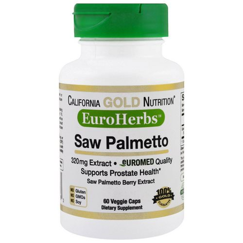 California Gold Nutrition, Saw Palmetto Extract, EuroHerbs, European Quality, 320 mg, 60 Veggie Caps Review