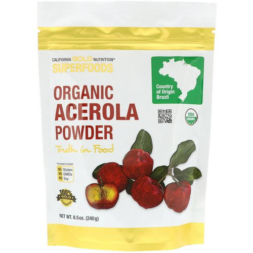 California Gold Nutrition, Superfoods, Organic Acerola Powder, 8.5 oz (240 g) Review