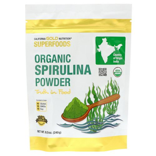 California Gold Nutrition, Superfoods, Organic Spirulina Powder, 8.5 oz (240 g) Review