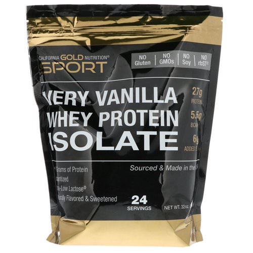 California Gold Nutrition, Very Vanilla Flavor Whey Protein Isolate, 2 lbs (908 g) Review