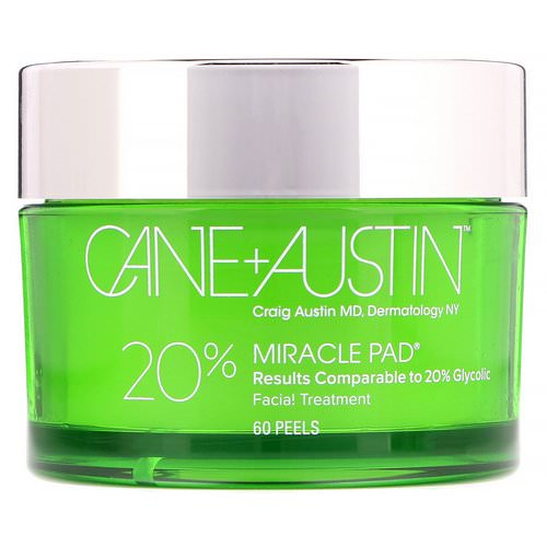 Cane + Austin, Miracle Pad, 20% Glycolic Acid, 60 Peels Review