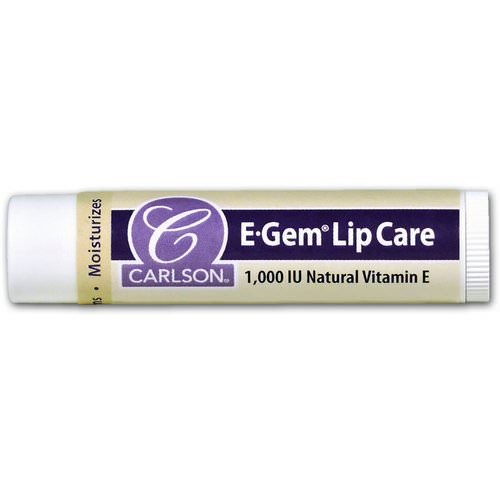 Carlson Labs, E Gem, Lip Care, 1000 IU, 0.15 oz (4.3 g) Review