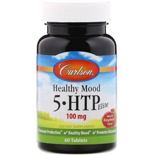 Carlson Labs, Healthy Mood, 5-HTP Elite, Natural Raspberry Flavor, 100 mg, 60 Tablets Review