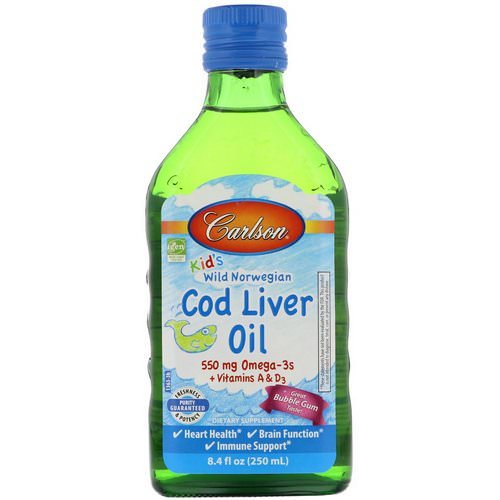 Carlson Labs, Kid's, Norwegian Cod Liver Oil, Bubble Gum, 8.4 fl oz (250 ml) Review