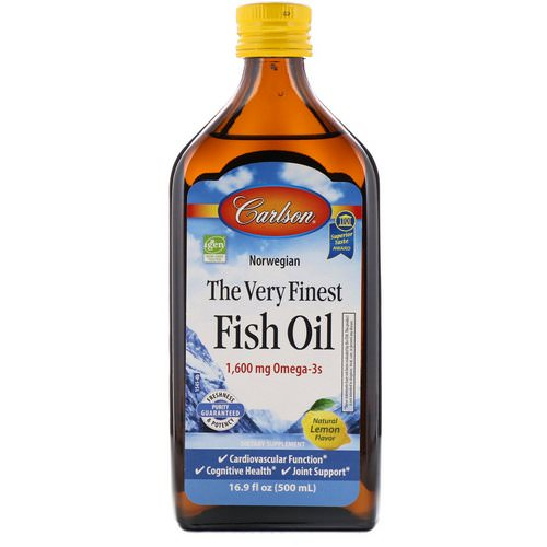 Carlson Labs, Norwegian, The Very Finest Fish Oil, Natural Lemon Flavor, 1,600 mg, 16.9 fl oz (500 ml) Review