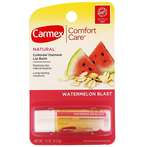 Carmex, Comfort Care, Colloidal Oatmeal Lip Balm, Watermelon Blast, .15 oz (4.25 g) Review