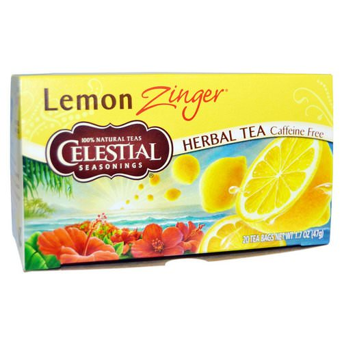 Celestial Seasonings, Herbal Tea, Caffeine Free, Lemon Zinger, 20 Tea Bags, 1.7 oz (47 g) Review