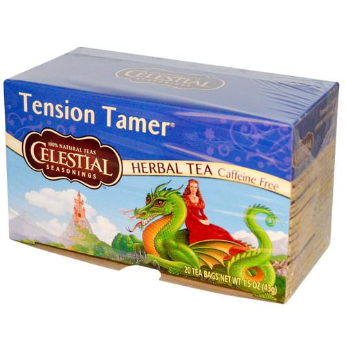 Celestial Seasonings, Herbal Tea, Tension Tamer, Caffeine Free, 20 Tea Bags, 1.5 oz (43 g) Review