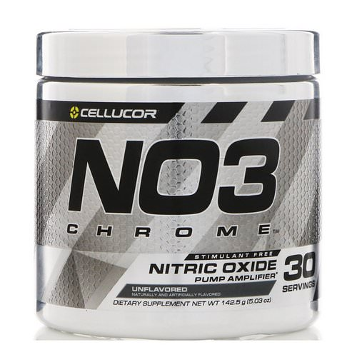 Cellucor, NO3 Chrome, Nitric Oxide Pump Amplifier, Unflavored, 5.03 oz (142.5 g) Review