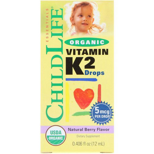 ChildLife, Organic, Vitamin K2 Drops, Natural Berry Flavor, 0.406 fl oz (12 ml) Review