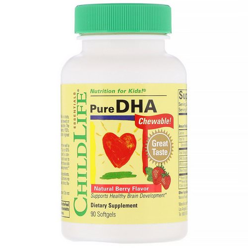 ChildLife, Pure DHA, Natural Berry Flavor, 90 Softgels Review