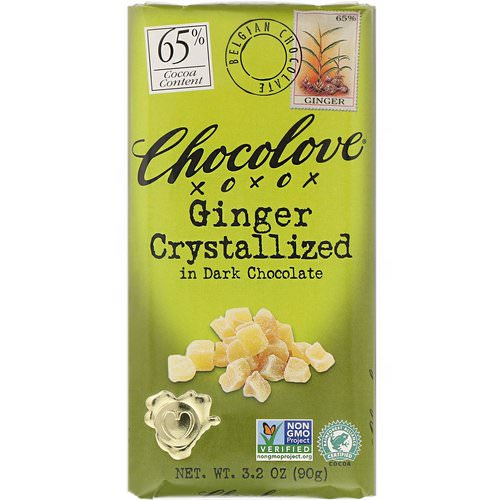 Chocolove, Ginger Crystallized in Dark Chocolate, 3.2 oz (90 g) Review