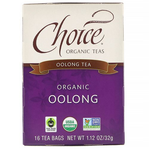Choice Organic Teas, Oolong Tea, Organic Oolong, 16 Tea Bags, 1.1 oz (32 g) Review
