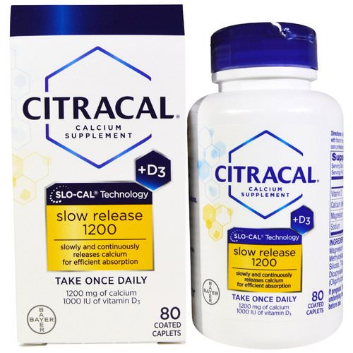Citracal, Calcium Supplement, Slow Release 1200 + D3, 80 Coated Tablets Review