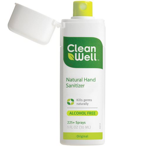 CleanWell, Natural Hand Sanitizer, Alcohol Free, Original, 1 fl oz (30 ml) Review