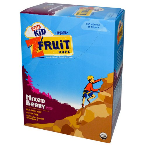 Clif Bar, Clif Kid, Organic ZFruit Rope, Mixed Berry, 18 Pieces, 0.7 oz (20 g) Each Review