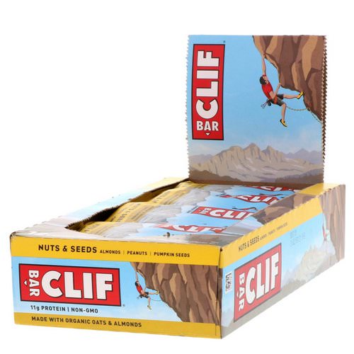 Clif Bar, Energy Bars, Nuts & Seeds, 12 Bars, 2.40 oz (68 g) Each Review