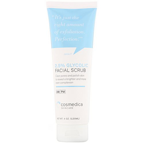 Cosmedica Skincare, 2.5% Glycolic Facial Scrub, 4 oz (120 ml) Review