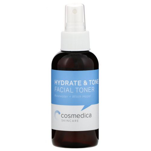 Cosmedica Skincare, Hydrate & Tone Facial Toner, Rosewater + Witch Hazel, 4 oz (120 ml) Review