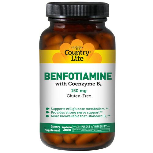 Country Life, Benfotiamine, with Coenzyme B1, 150 mg, 60 Veggie Caps Review