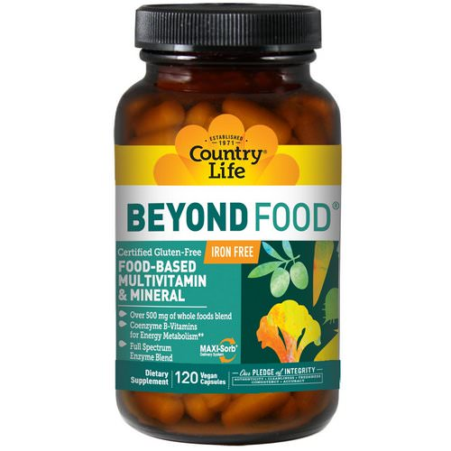 Country Life, Beyond Food, Multivitamin & Mineral, Iron Free, 120 Vegan Caps Review