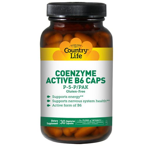 Country Life, Coenzyme Active B6 Caps, P-5-P/PAK, 30 Veggie Caps Review