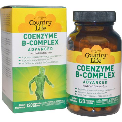 Country Life, Coenzyme B-Complex, Advanced, 120 Vegetarian Capsules Review