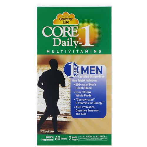 Country Life, Core Daily-1 Multivitamins, Men, 60 Tablets Review