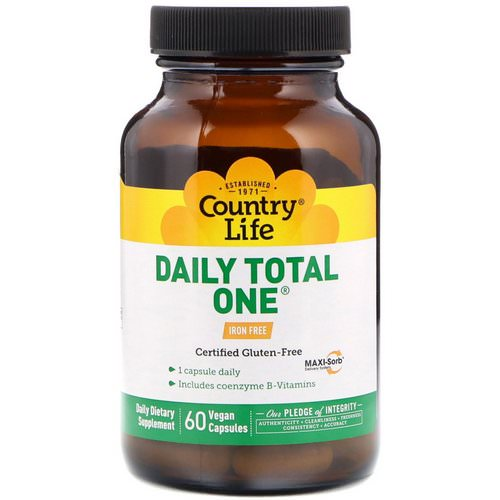 Country Life, Daily Total One, Iron-Free, 60 Vegan Capsules Review