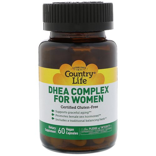 Country Life, DHEA Complex For Women, 60 Vegan Capsules Review
