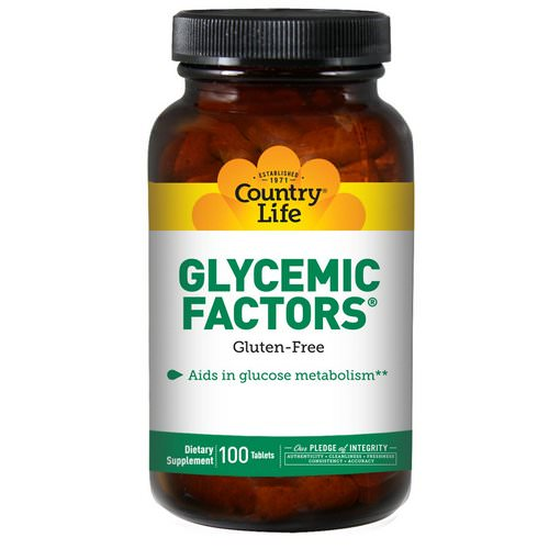 Country Life, Glycemic Factors, 100 Tablets Review