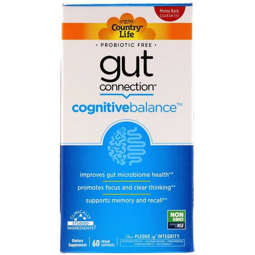 Country Life, Gut Connection, Cognitive Balance, 60 Vegan Capsules Review