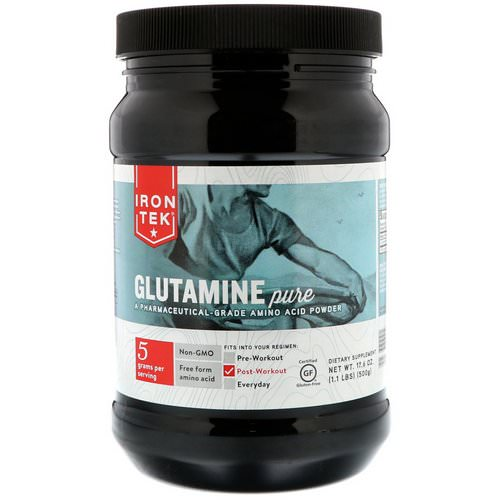 Country Life, Iron-Tek, Glutamine Pure, 17.6 oz (500 g) Review