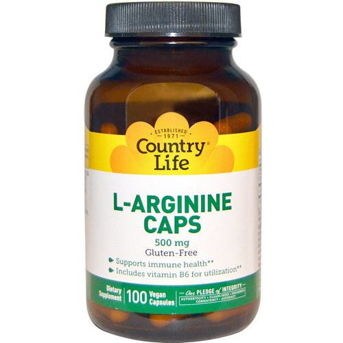 Country Life, L-Arginine Caps, 500 mg, 100 Vegan Caps Review