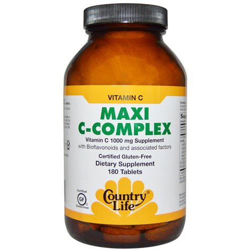 Country Life, Maxi C-Complex, 180 Tablets Review