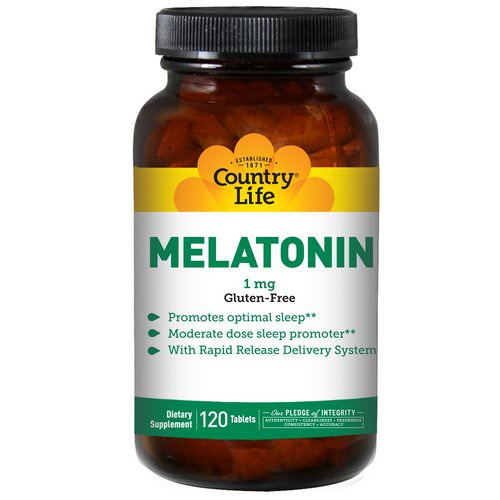 Country Life, Melatonin, 1 mg, 120 Tablets Review